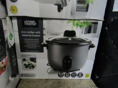 3x Rice Cookers with Steamer Basket | Unchecked & Boxed | RRP £22 | Total lot RRP £66 | Load Ref