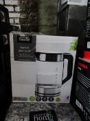 5x 3kw Fast Boil Glass Kettle | Unchecked & Boxed | RRP £20 | Total lot RRP £100 | Load Ref