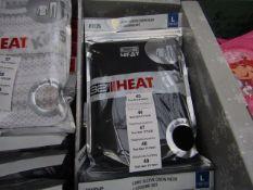1x 32' heat - long sleeve crew neck & legging set - 10/12 - new & packaged