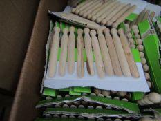 20x packs of 10 wooden pegs - unused.