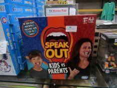 2x Hasbro gaming - speak out board game - looks unused.