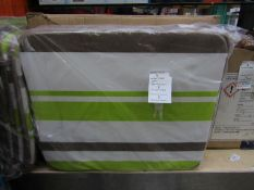1x bag of 4 outdoor cushions - 43 x H2 x 37cm - new & packaged.