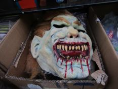 3x Halloween mask - picked at random - new & packaged.