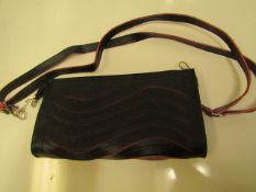 3 X Black Clutch Bags With Hand Strap & Shoulder Strap New & Packaged