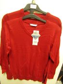 10 X F&F Red School Jumpers Aged 10-11yrs New with Tags