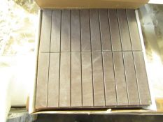 10x Boxes of 8 Vitra Sahara Mocha Boarder 300 x 150 (in sheets of 300x300, brand new. Total RRP £