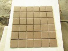 10x Packs of 11 Vitra 50x50 Sahara Soft Brown Mosaic K5394508, brand new. RRP £55 a Box Total RRP £