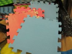 10x Square Foam Floor Mats - Sizes & Colours May Vary - Unused.