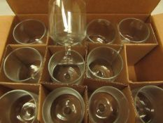 Pasabahce - Set of 12 300cc Glass Tumbers - Unused & Boxed.