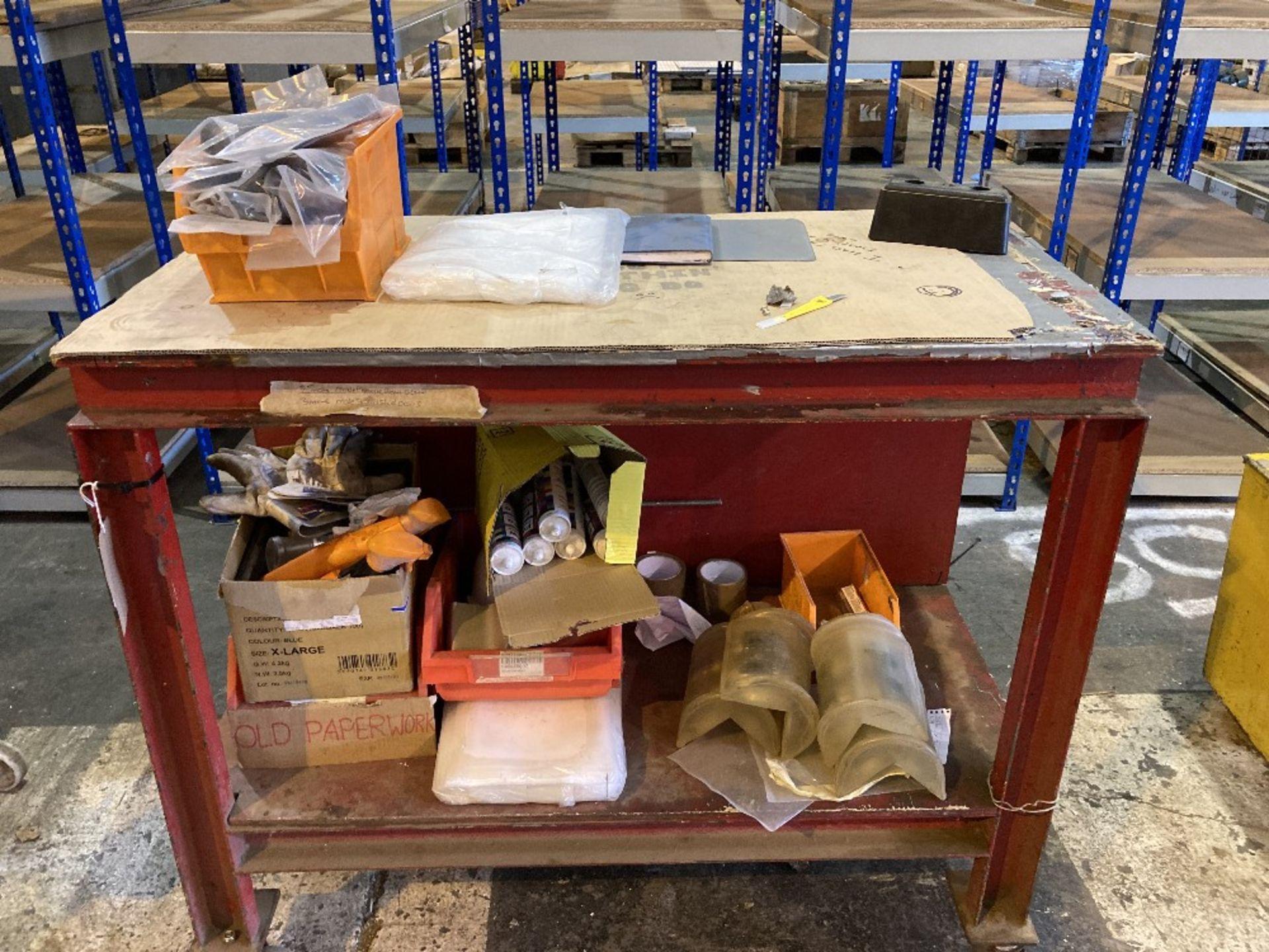Steel framed mobile workbench - Image 2 of 3