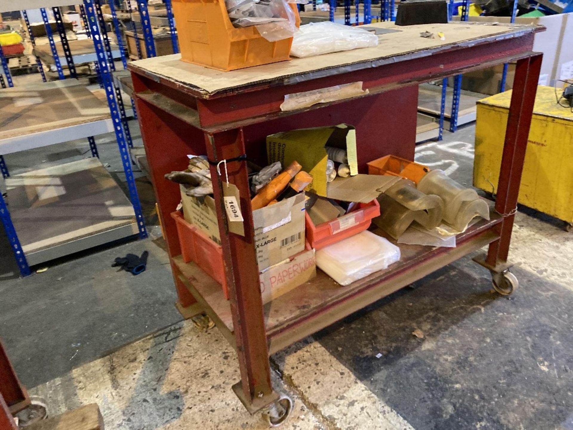 Steel framed mobile workbench - Image 3 of 3