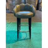 (2) Grey leather 'shell effect' high stools