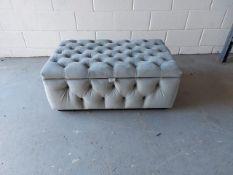 Grey 'Joaquin' bespoke deep button ottoman footstool