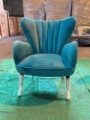 Teal 'Buenos Aires' armchair