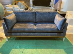 Plush atlantic 'Karlsson lux' 2.5 seater sofa with natural oak plinth