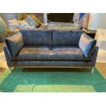 Plush atlantic 'Karlsson lux' 2.5 seater sofa with natural oak plinth