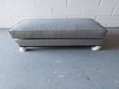 Grey Warwick chambray 'Edinburgh' ottoman footstool