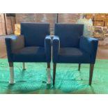 (2) Blue velvet dining chair