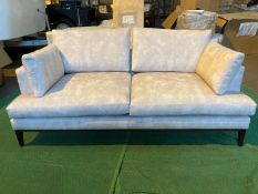 Plush white 2.5 seater sofa