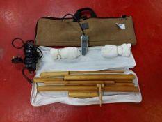 Bamboo massage stick set