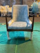Pale blue 'Karlsson' armchair