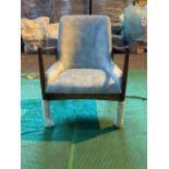 Pale blue 'Karlsson' armchair