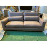Warwick malabar thistle Edinburgh 3 seater sofa with natural oak plinth