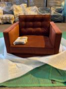 Plush amber 'Brussels' armchair