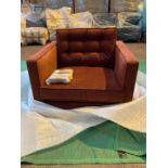 Plush amber 'Brussels' armchair
