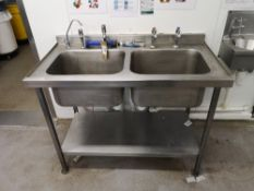 Stainless Steel Double Sink Basin Unit