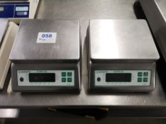 (2) Marsden Super-SS B-100 Bench Scales