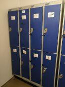 Steel Floor Standing 8 door locker bank