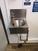 Stainless Steel Wall Fixed Hand Wash Basin
