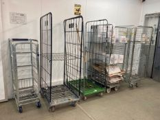(5) Various Sized Mobile Warehouse Cages