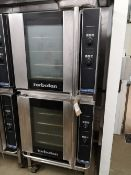 (2) Blue Seal Turbofan E32D4 166 Litre Four Tray Convection Ovens