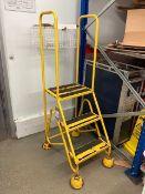 Three Tier Steel Warehouse Ladder
