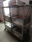 Three Tier Stainless Steel Mobile Rack