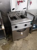 Mareno Twin Tank Twin Basket Heavy Duty Fryer