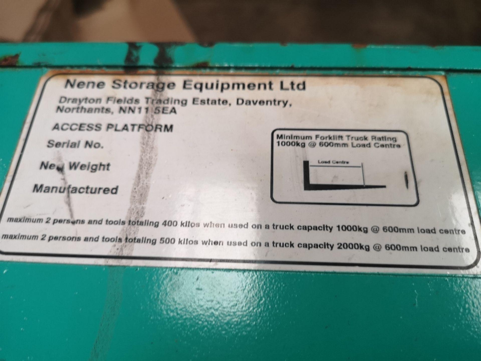 Nene Storage Equipment Steel Forklift Access Platform - Image 2 of 2