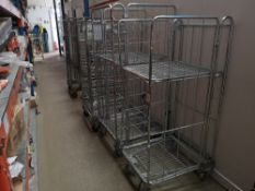 (5) Mobile Warehouse Cages