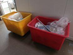 (2) Mobile Storage Tubs