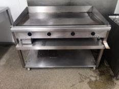 Imperial Electric Griddle on Stainless Steel Stand