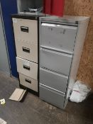 (2) Four Drawer Steel Filing Cabinets