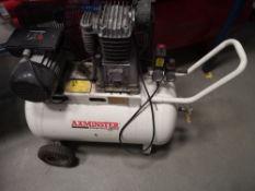 Axminster AWBDC30 Two Cylinder Belt Driven Compressor