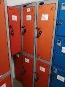 (4) Probe Steel Floor Standing 2 door locker banks