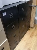 (3) Four Drawer Steel Filing Cabinets
