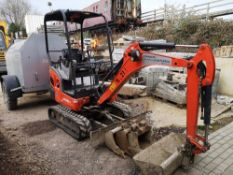 2016 Kubota KX016-4 Mini Excavator with Canopy