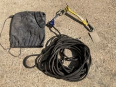 Safety Rope c/w Stein SS-146203 13mm Rope Grab and Miller Web Back Anchorage