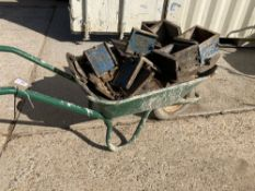 Wheelbarrow Containing Large Quantity of 150mm Test Cube Components