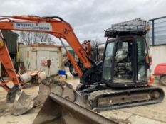 2017 Hitachi ZX85USB-5A Midi Excavator